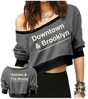 Downtown & Brooklyn Uptown The Bronx New York Crop Pullover Ladies Jr Sweater