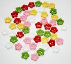 50 X12mm Flower Buttons Sewing Scrapbook Resin Flowers Crafts Colour Choice