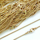 Top Quality 22ct Gold Plated Necklace Snake Chain 16 18 24 Inch