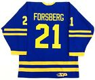 PETER FORSBERG AUTHENTIC TEAM SWEDEN OLYMPIC GOLD BLUE JERSEY COLORADO AVALANCHE