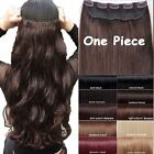 "17"" 23"" 24"" 26"" 27"" one piece Clip in Hair Extensions Heat Resistant real natura"
