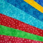 Ditsy Stars Toss On Galaxy Style Background 100% Cotton Fabric
