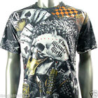 Minute Mirth T-Shirt Sz M L Tattoo Skull Spade Punk Gambler Graffiti Skate N39