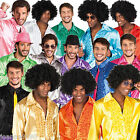 Mens 70s Saturday Night Disco Fever Frill Party Ruffle Shirt Fancy Dress Costume