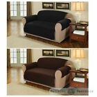 Suede Quilted Furniture Protector Sofa / Armchair Cover Throw Slipcover Cover
