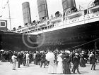 1907 LUSITANIA OCEAN LINER SHIP IN NEW YORK PHOTOGRAPH