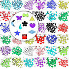 About 1000x Crystal Flatback Acrylic Rhinestones Gem Bead Lot 10 Shape 12 Colour