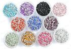 1000pcs ACRYLIC Crystal Rhinestone BICONE Point Back BEADS - Choose 3MM 4MM 5MM