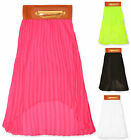 Girls Chiffon Skirt Kids Summer Party Skirts Neon Colours New Age 4 - 14 Years
