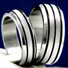 His Hers 2 pc Womens Engagement Stainless Steel & Mens Wedding Bridal Rings Set