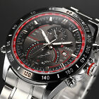 CURREN Fashion Mens Army Stainless Steel Quartz Sports Wrist Watch + Bookmark