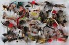 Assorted Packs Trout Fishing Flies Wet, Dry, Nymph, Buzzer Qty 10, 25, 50, 100