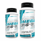 Omega 3-6-9 60-300 Caps. CLA  EPA  DHA  Vit.E Natural Fatty Acids Supplement