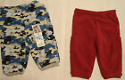 GARANIMALS Baby Boys Blue Camo 3-6 Month Polyester Fleece Pant Choice NWT
