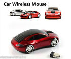 MOUSE AUTO CAR WIFI WIRELESS SENZA FILI 2.4 GZ OTTICO PC USB AUTOMOBILE NOTEBOOK
