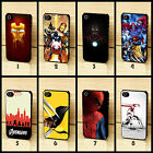 DC Comics Marvel Avengers Spider Iron Man Hulk Case Cover for iPhone 4 4s 5 5s c