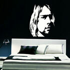 LARGE KURT COBAIN WALL STICKER IN MATT TRANSFER VINYL DECAL NEW DESIGN & SIZES