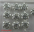 very lovely retro style ancient silver alloy Double sided flowers charms Beads
