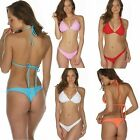 Brazilian Bikini Thong Set Women G String Tanga Swimsuit Bottom Bra Top S M L XL