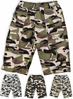 Boys Army Cargo Shorts Kids Camouflage Combat Print Bermuda New Age 3 - 14 Years