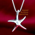 DANCING STARFISH Jr. 925 Solid Sterling Silver Pendant with CHOICE of CHAINS!