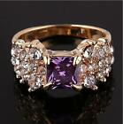fashionable patter zircon cut crystal 18k gold filled deisgn ring 3size JZ0060