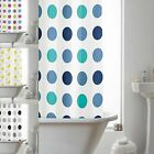 Shower Curtain, 180cm x 180cm, 100% Waterproof PEVA Includes Rings