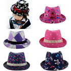 Fashion Baby Toddler Kids Children Boy Girl Canvas Fedora Hat Sun Hat Jazz Cap