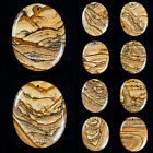 49x39x6mm Picture jasper oval pendant bead  *lot of choices*