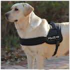 Black & Red Nylon Working Dog Harness Removable Chest Plate & Velcro Patches