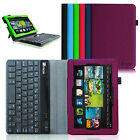 "For 2013 Kindle Fire HD 7"" Detachable Bluetooth Keyboard PU Leather Case Cover"