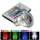 16Color Changing RGB LED Light Bulb Change Lamp E27 3W 5W 8W 9W + Remote Control