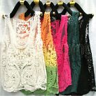 Women Sexy Semi Sheer Embroidery Floral Lace Crochet Tee T-Shirt Tops Blouse New