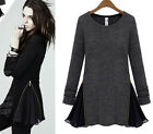 VINTAGE WOMENS SEXY COCKTAIL PARTY EVENING CHIFFON TOPS SHIRT DRESS 3 COLORS HOT