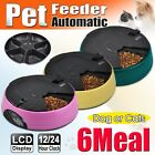 New 6 Meal/Day Automatic Pet Feeder Dog Cat Puppy Holiday Auto Dispenser Bowl