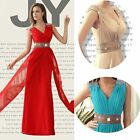 2014 Long Maxi Chiffon Evening Gown Party Prom Bridesmaid Dress 6 8 10 12 14 16+