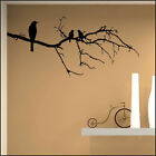 LARGE BIRD BIRDS ON BRANCH TWIG WALL STICKER  TRANSFER DECAL