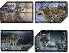 Gray Wolf Pack Near Creek Woods Howling Picture Woven Throw Blanket Tapestry