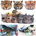 Cute Cat Animal Face Purse Eyes Mini Coin Bag Zip Wallet Makeup Handbags Clutch