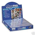 NEW* (200) ULTRA PRO 9 Pocket Pages for Binder BASEBALL Cards or COUPON Sleeves