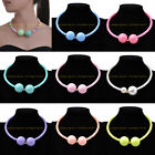 Hot Fashion Jewelry Multicolor Resin Pearl Seed Beads Circle Round Bib Necklace