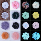 "15mm Carved small flatback flower loose gemstone beads 0.6"" Save $ in Bulk"