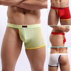 2014 Fashion Design Sexy Men's Smooth Half Cover Underwear Boxer Briefs JS