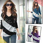 8 10 12 14 16 18 Women Casual Batwing Dolman Loose Shirt Jumper Tops Long Sleeve