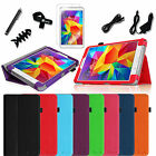 "For Samsung Galaxy Tab 4 8.0"" SM-T330NU Leather Stand Case Cover 8in1 Bundles"