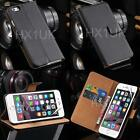 Luxury Genuine Real Leather Flip Case Wallet Cover For Apple Iphone Models