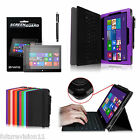 Microsoft Surface Pro / Pro 2 10.6 Windows 8 Leather Case Cover w / Keyboard Holder