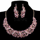 Gorgeous Wedding Party Swarovski Crystal Earring Necklace Jewelry Set Ring Gift