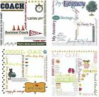 12x12 Scrapbook Color RUB-ONS Children Family Activities SHIPPING SPECIAL