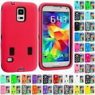 For Samsung Galaxy S5 Hybrid Shockproof Case Cover w/ Built In Screen Protector